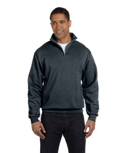 Black Heather 8 oz., 50/50 NuBlend® Quarter-Zip Cadet Collar Sweatshirt