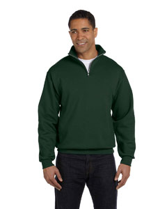 Forest Green 8 oz., 50/50 NuBlend® Quarter-Zip Cadet Collar Sweatshirt