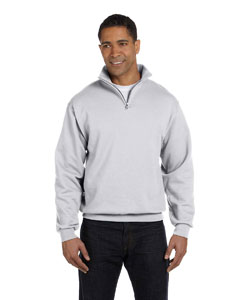 Ash 8 oz., 50/50 NuBlend® Quarter-Zip Cadet Collar Sweatshirt