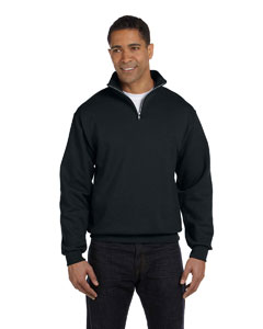 Black 8 oz., 50/50 NuBlend® Quarter-Zip Cadet Collar Sweatshirt