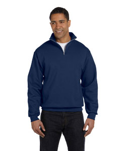J Navy 8 oz., 50/50 NuBlend® Quarter-Zip Cadet Collar Sweatshirt