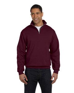 Maroon 8 oz., 50/50 NuBlend® Quarter-Zip Cadet Collar Sweatshirt