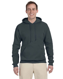 Black Heather 8 oz., 50/50 NuBlend® Fleece Pullover Hood