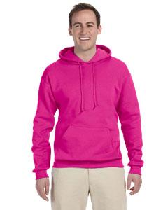 Cyber Pink 8 oz., 50/50 NuBlend® Fleece Pullover Hood