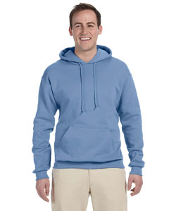 Light Blue 8 oz., 50/50 NuBlend® Fleece Pullover Hood