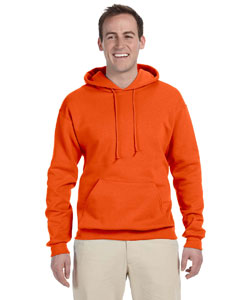 Safety Orange 8 oz., 50/50 NuBlend® Fleece Pullover Hood