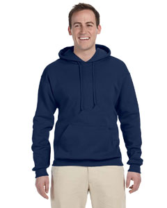 J Navy 8 oz., 50/50 NuBlend® Fleece Pullover Hood