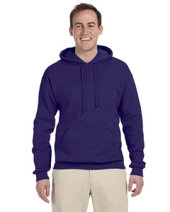 Deep Purple 8 oz., 50/50 NuBlend® Fleece Pullover Hood