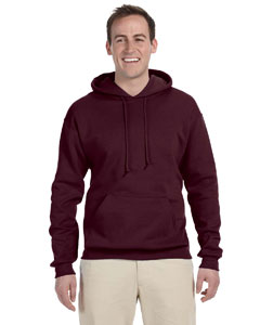 Maroon 8 oz., 50/50 NuBlend® Fleece Pullover Hood