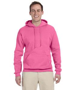 Neon Pink 8 oz., 50/50 NuBlend® Fleece Pullover Hood