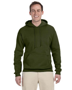 Military Green 8 oz., 50/50 NuBlend® Fleece Pullover Hood