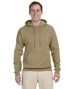 Khaki 8 oz., 50/50 NuBlend® Fleece Pullover Hood