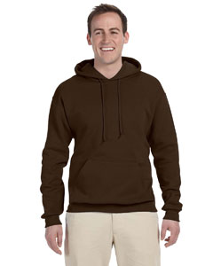 Chocolate 8 oz., 50/50 NuBlend® Fleece Pullover Hood