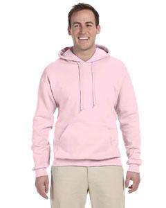 Classic Pink 8 oz., 50/50 NuBlend® Fleece Pullover Hood