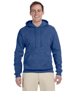 Vintage Hth Blue 8 oz., 50/50 NuBlend® Fleece Pullover Hood
