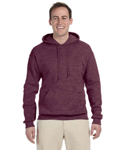 Vint Hth Maroon 8 oz., 50/50 NuBlend® Fleece Pullover Hood