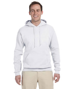 White Tall 8 oz., 50/50 NuBlend® Fleece Pullover Hood