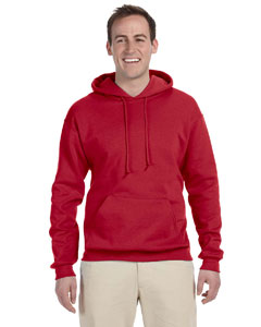 True Red Tall 8 oz., 50/50 NuBlend® Fleece Pullover Hood