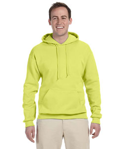 Safety Green Tall 8 oz., 50/50 NuBlend® Fleece Pullover Hood