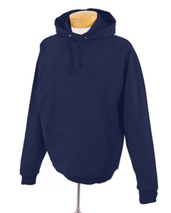 J Navy Tall 8 oz., 50/50 NuBlend® Fleece Pullover Hood