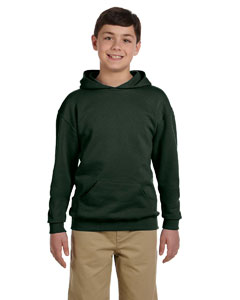 Forest Green Youth 8 oz., 50/50 NuBlend® Fleece Pullover Hood
