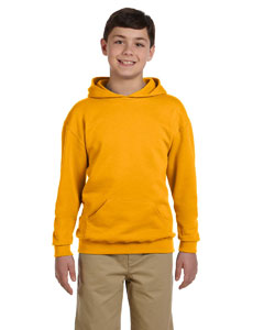 Gold Youth 8 oz., 50/50 NuBlend® Fleece Pullover Hood