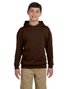 Chocolate Youth 8 oz., 50/50 NuBlend® Fleece Pullover Hood