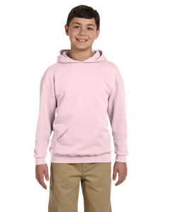 Classic Pink Youth 8 oz., 50/50 NuBlend® Fleece Pullover Hood
