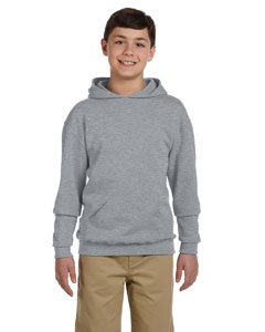 Athletic Heather Youth 8 oz., 50/50 NuBlend® Fleece Pullover Hood
