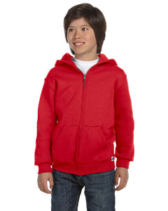 True Red Youth Dri-Power® Fleece Full-Zip Hood