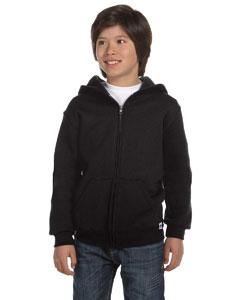 Black Youth Dri-Power® Fleece Full-Zip Hood