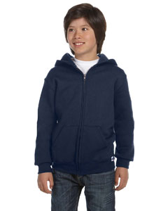 J Navy Youth Dri-Power® Fleece Full-Zip Hood