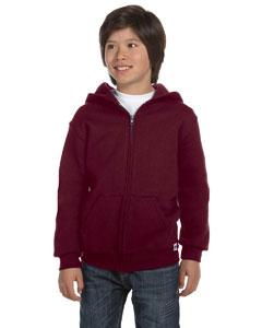 Maroon Youth Dri-Power® Fleece Full-Zip Hood
