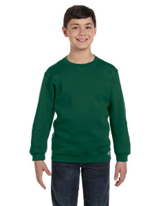 Dark Green Youth Dri-Power® Fleece Crew
