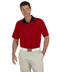 Black/university Red Men's ClimaLite® Classic Stripe Short-Sleeve Polo