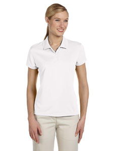 White/black Women's ClimaLite® Short-Sleeve Piqué Polo