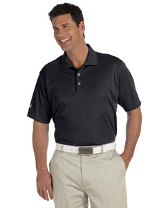 Black Men's ClimaLite® Basic Short-Sleeve Polo