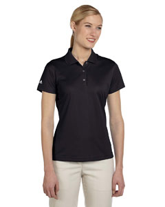 Black Women's ClimaLite® Basic Short-Sleeve Polo