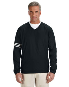 Black/black Men's ClimaLite® Colorblock V-Neck Wind Shirt