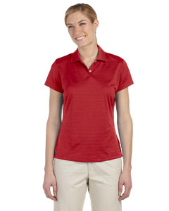 University Red Women's ClimaLite® Textured Short-Sleeve Polo
