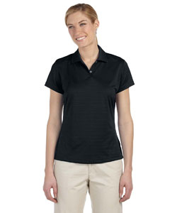 Black Women's ClimaLite® Textured Short-Sleeve Polo