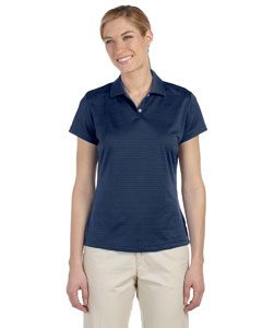Navy Women's ClimaLite® Textured Short-Sleeve Polo