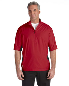 Unvrsty Red/blck Men's ClimaLite® Colorblock Half-Zip Wind Shirt
