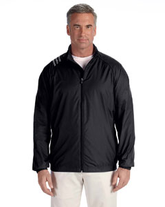 Black Men's 3-Stripes Full-Zip Jacket