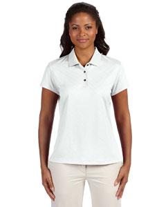 White Women's ClimaCool® Diagonal Textured Polo