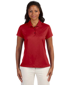 University Red Women's ClimaCool® Diagonal Textured Polo