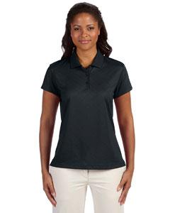 Black Women's ClimaCool® Diagonal Textured Polo