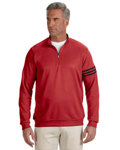 Unvrsty Red/blck Men's ClimaLite® 3-Stripes Pullover