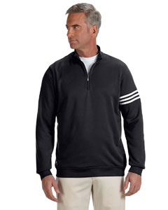Black/white Men's ClimaLite® 3-Stripes Pullover