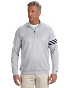 Chrome/black Men's ClimaLite® 3-Stripes Pullover